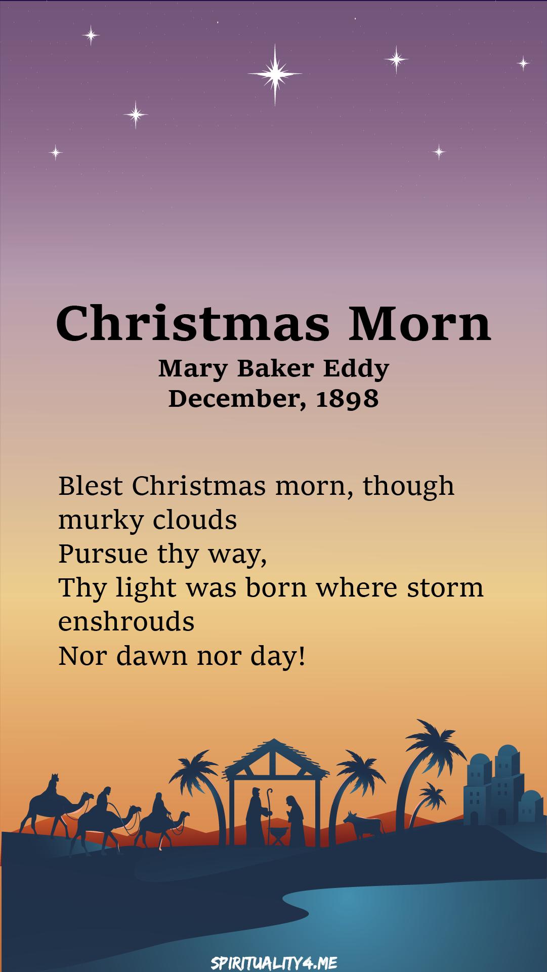 Christmas morn I