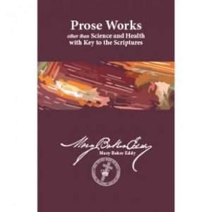 Prose Works Midsize Sterling Version by Mary Baker Eddy